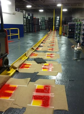 Warehouse Floor Painting - In Progress