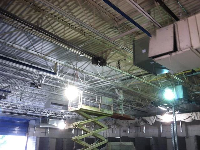 Welding Lab Ceiling Painting - In Progress