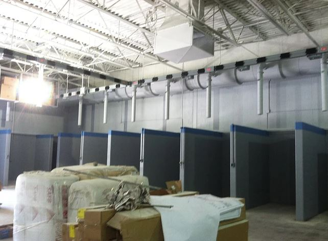 Welding Lab Work Area Walls - Completed